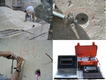 [Prove non distruttive su calcestruzzo / In situ test on concrete]